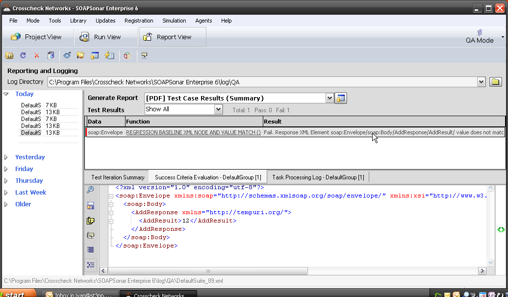 automated regression suite for testing web services SOAPSonar | ST3PP