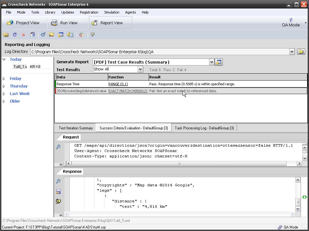 Software testing Report logging generation SOAPSonar | ST3PP